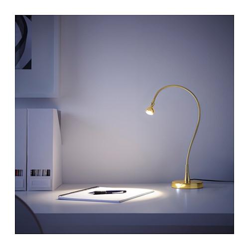 이케아 Jansjo Led 작업등 골드 603 101, Jansjo Desk Work Led Lamp