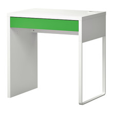 [이케아] MICKE Desk (73x50cm, White/Green) 402.216.17  - 마켓비